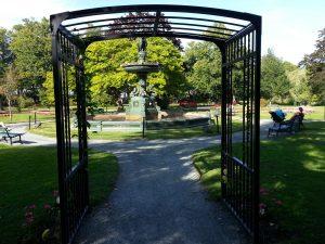 A trellis at the Halifax Public Gardens.